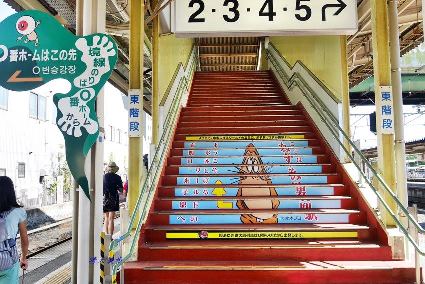 山陰鳥取親子遊|米子車站0號月台~搭乘境線鬼太郎列車 前往境港水木茂的妖怪世界