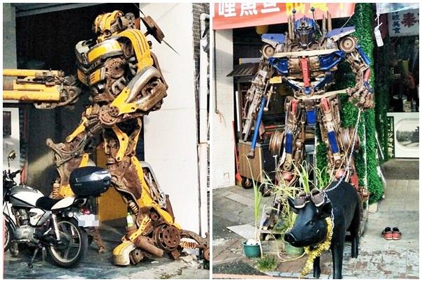 20180913001418 77 - 超酷!在台中街頭遇見變形金剛~廢鐵打造的酷炫柯博文和大黃蜂!