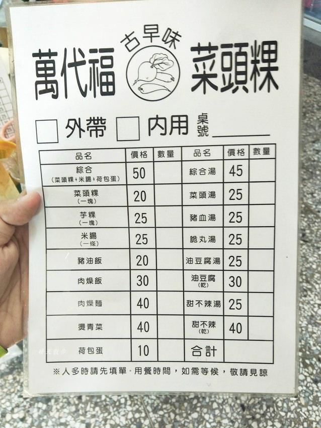 20181010235911 36 - 萬代福古早味菜頭粿~古早味平價小吃 近萬代福影城、中華路夜市