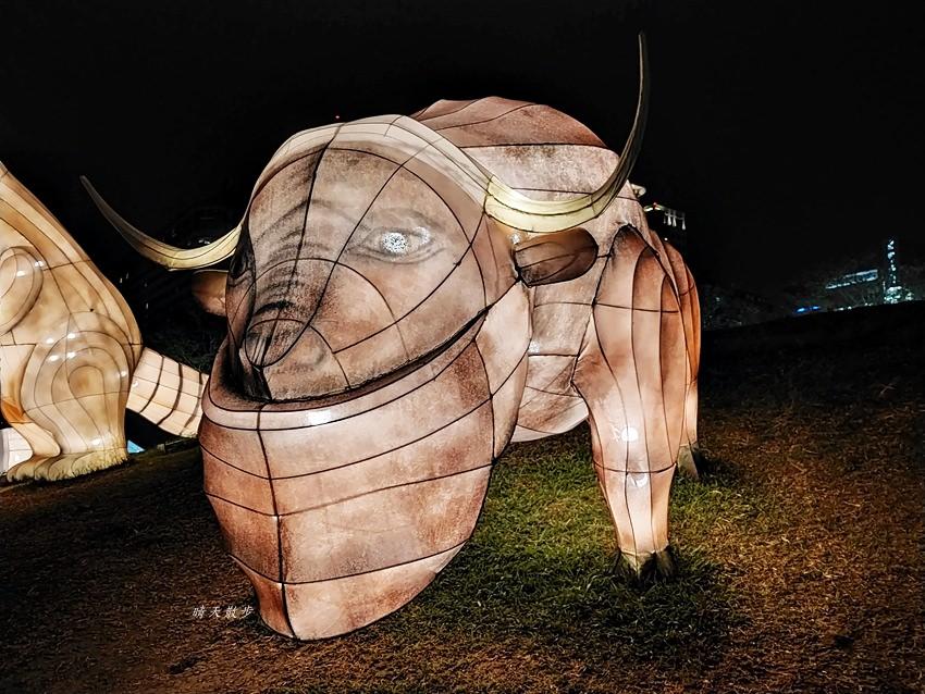 20200213164513 51 - 台中燈會|2020台灣燈會在台中,副展區文心森林公園戽斗星球動物晚上也好拍,還有人造雪喔!