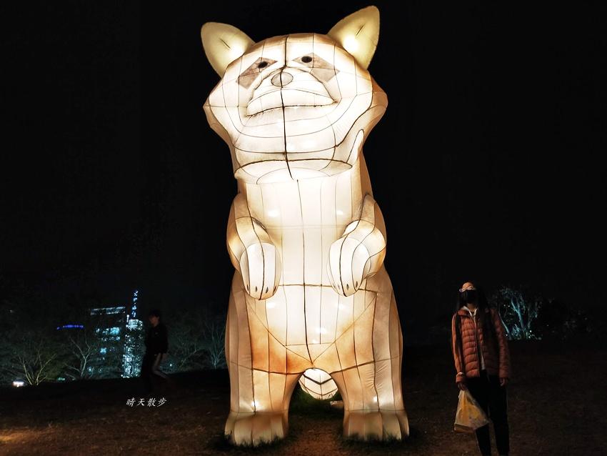 20200213164515 80 - 台中燈會|2020台灣燈會在台中,副展區文心森林公園戽斗星球動物晚上也好拍,還有人造雪喔!
