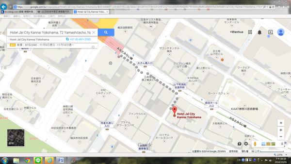 日本大通站3號出口到關內日航飯店路線.png